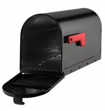 Architectural Mailboxes Mb1 Steel Post Mount Black Mailbox Medium Capacity
