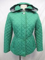 Tommy Hilfiger Women Small Green Quilted Puffer Coat Jacket MSRP $225 W103