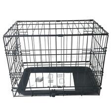 "20"" Wire Metal Pet Kennel Cat Rabbit Folding Steel Crate Animal Playpen Cage"
