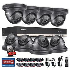 Annke 8Ch Hd 1080N Ahd Dvr Outdoor Ir Cctv Home Video Security Camera System 1Tb