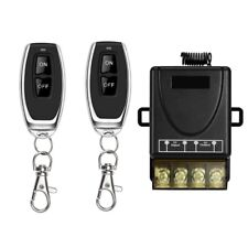 2x Funk Ein-/Ausschalter 433Mhz Fernbedienung 230V AC Handsender Lichtschalter