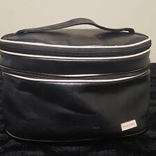 Mary Kay Medium Size Makeup Cosmetic Oval Bag Case Faux Leather Travel Mirror