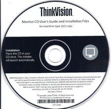 Lenovo ThinkVision 2572-HD6 LCD Monitor User's Guide & Installation Files CD