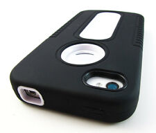 BLK WHITE DUO SHIELD HEAVY DUTY HARD CASE COVER APPLE IPHONE 4 4S ACCESSORY
