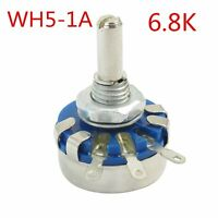 WH5-1A 4mm Shaft 3 Terminal Linear Taper Rotary Potentiometer Pot 6.8K ohm