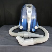 Kenmore 10701 Bagless Compact Canister Vacuum w Hose Silver Blue Cord Rewind