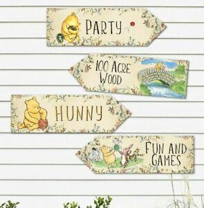 4 Winnie the Pooh Wildflower Party Decoration Arrows