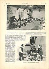 Construction Santos-Dumont N°6 Aérostat Henri Lachambre Saint-Cloud GRAVURE 1901