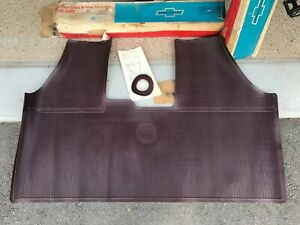 NOS 1967 Chevrolet Corvair Accessory Front Floor Mat Maroon GM 987011