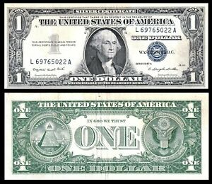 USA /  1957 $1 DOLLAR US Banknote - Silver Certificate