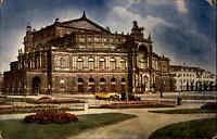 DRESDEN Sachsen Postkarte Ansichtskarte 1931 Theater Landestheater Opernhaus