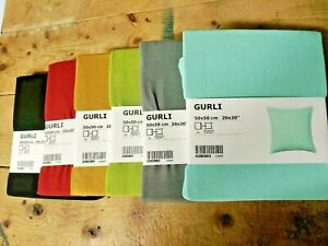 """IKEA GURLI Cushion Pillow Cover 20x20"""" COLOR VARIETY 100% Cotton ZIP NEW FREESH"""