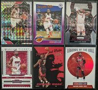 Lot of (6) Dwyane Wade, Including Prizm/Hoops parallels, Fleer Playground RC