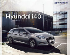 Hyundai i40 04 / 2017 brochure catalogue Pologne Poland rare