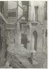 FOTOGRAFIA ORIGINALE_ALESSANDRIA_BOMBARDAMENTO APRILE 1944_SCAVI TRA LE MACERIE