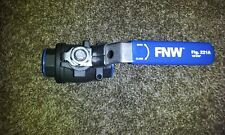 "FNW carbon steel ball valve FNW221AF 3/4"", latch, lever"