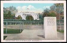 WASHINGTON DC Zero Mile Stone Highway Marker Vtg 1925 Postcard Old WB PC