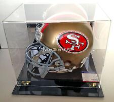 JERRY RICE JOE MONTANA Signed F/S Pro Line Helmet Autograph PSA/DNA Mirror Case