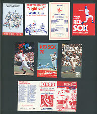 Lot of 236 (35 different) 1974-2007 Boston Red Sox MLB Game Schedules