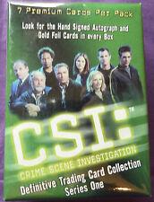 CSI Season 1 Complete Trading Card Set