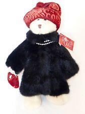 Russ Berrie Memories of Love Collection Nuria Bear Lady Velvet Fur Valentine's D