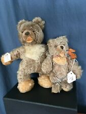 "LOT OF 2 - Vintage Steiff 12"" Lully & 8.5"" Zotty collectible bears"