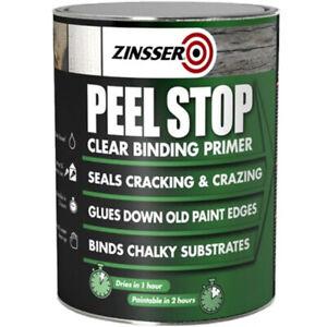 Sale Zinsser Peel Stop Clear Primer Sealer Binder Sticks Down Stops Flaking 5L