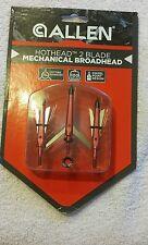 Allen Hothead 2 Blade 100 Grain Mechanical Broadhead 3 Pack - New