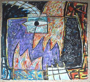 SERGIO GARCIA 1993 Painting.Cuban American Fine art.Arte Cubano Miami 305.Unique