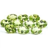 Wholesale Lot of 6x4mm Oval Facet Cut Natural Peridot Loose Calibrated Gemstone