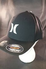 NWT NIKE HURLEY DF OAO DriFit One and Only Logo Black White FlexFit Hat Cap L/XL