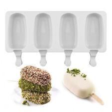 4 Cell Frozen Ice Cream Yogurt Juice DIY Pop Mold Popsicle Maker Lolly Mould  S