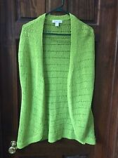 Coldwater Creek Lime Green Lite Sweater Vest Size L (14)
