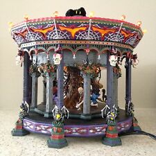 Dept. 56 Halloween Village Ghostly Carousel Light Motion Sound #55317 w/Box