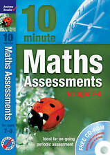 Ten Minute Maths Assessments Ages 7-8, Andrew Brodie, New Book