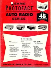 Sams Photofact-Auto Radio Manual/#AR-48/First Edition-First Print/1968