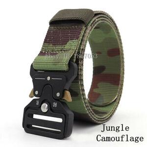 125cm Quick Release Men Tactical Buckle Belt Military Nylon Belt Training Strap