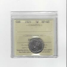 **1925**, ICCS Graded Canadian,  5 Cent, **EF-40**