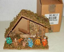 Kleine Krippe Holz Pappe Kunststoff Weihnachten Dekoration Made in Italy