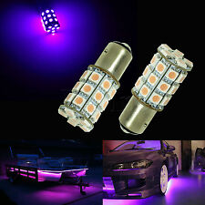 2x 1157 Dual Switching Smail Size Tail Stop Light Bulb 30 SMD LED PINK PURPLEP3