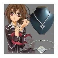 2pcs Vampire Knight Cross Yuki Cosplay Anime Accessories Necklace & Bracelet
