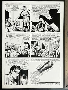 PULP HERO THE SHADOW #5 PAUL REINMAN 1965 ORIGINAL ART SILVER AGE LARGE