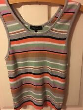 NEW LOOK Multicoloured Ribbed Stripe Vest BRAND NEW small