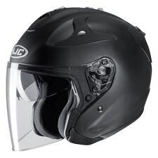 NEU HJC Jethelm FG Jet schwarz matt Gr XXL = 63/64 Motorradhelm mit Sonnenblende