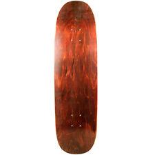 "Old School Skateboard Deck 8.75"" x 32.1"" Brown Blunt Nose Popsicle Shape"