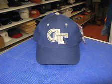 "GEORGIA TECH BUZZ- DK BLUE CAP W/ ""GT"" LOGO FRONT-MASCOT BACK-SIZE 6 3/4-LAST 1"