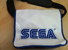 Sega de Viajes Oficial llevar del hombro Blanco Vinilo Messenger Bag