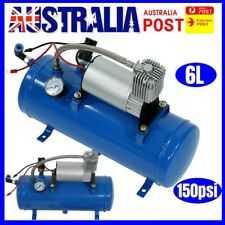 150psi 12v 6l Car Truck Air Compressor Tank Tyre Inflator Pump Device Kit AU