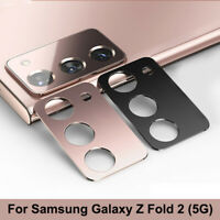 For Samsung Galaxy Z Fold 2 5G Metal Rear Camera Lens Protection Ring Case Cover