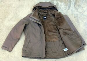 The North Face HyVent fleece lined Ski Snow Jacket women XL Light espresso brown